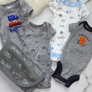 🎉Child of Mine By Carter's bodysuits towel B4-28